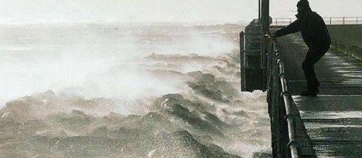 Tempête sur les côtes françaises