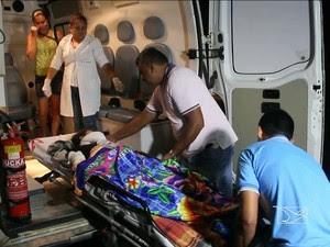 Pelo menos 15 pessoas ficaram feridas em acidente na MA-303 (Foto: Reprodução/TV Mirante)