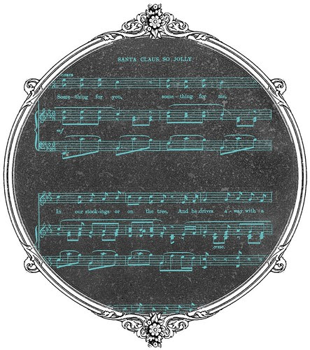 14 Christmas Sheet Music Vintage GF Chalkboard - free printable paper SAMPLE