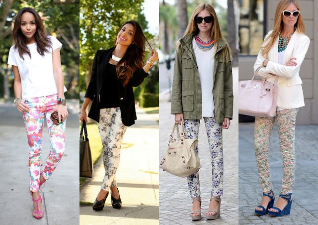 Stillglamorus: How to wear floral printed jeans!