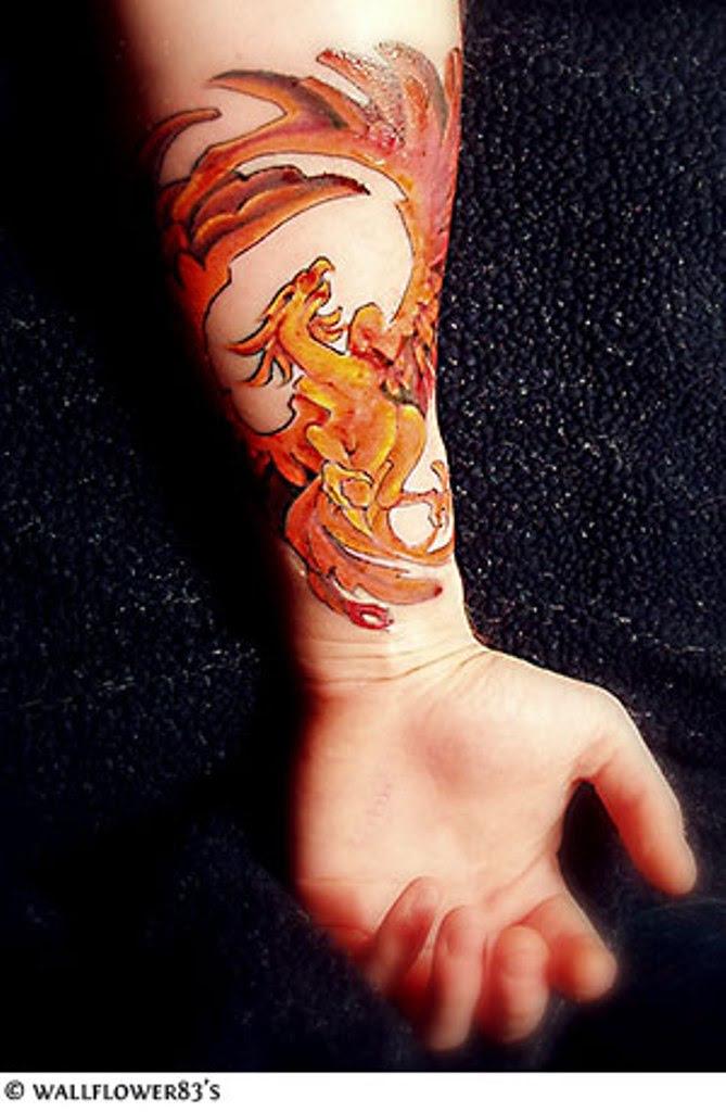 8 Phoenix Wrist Tattoos Designs