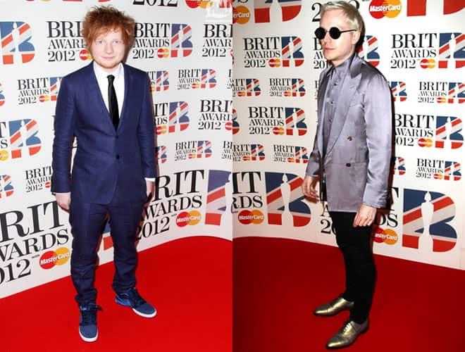 Ed Sheeran and Mr Hudson Brit Awards 2012 Red Carpet