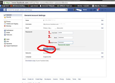 mengganti password facebook sarancom
