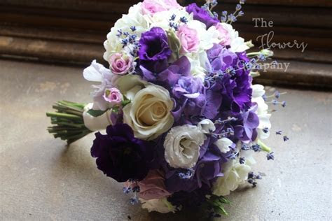 Purple & lilac wedding flowers at Highclere Castle