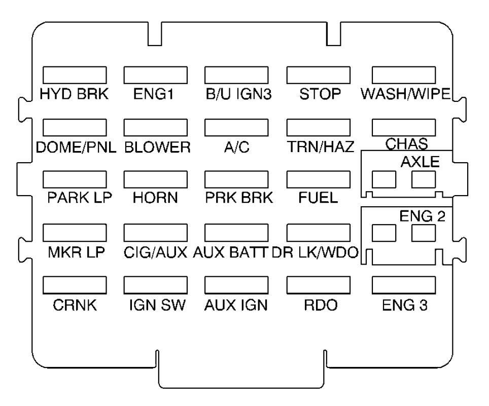 1998 Mercury Mystique Fuse Box Diagram