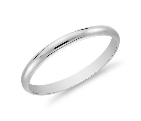 Classic Wedding Ring in 14k White Gold (2mm)   Blue Nile