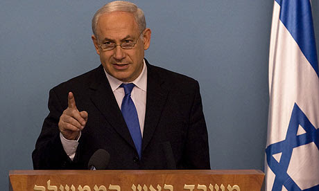 Binyamin Netanyahu gives a televised press conference in Jerusalem