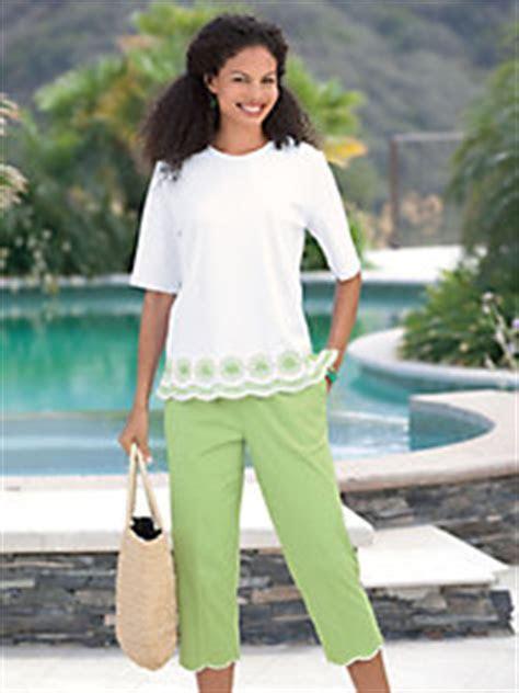 Plus Size Dressy Capris   Breeze Clothing