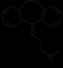 2D structure of TCA class drug amitriptyline