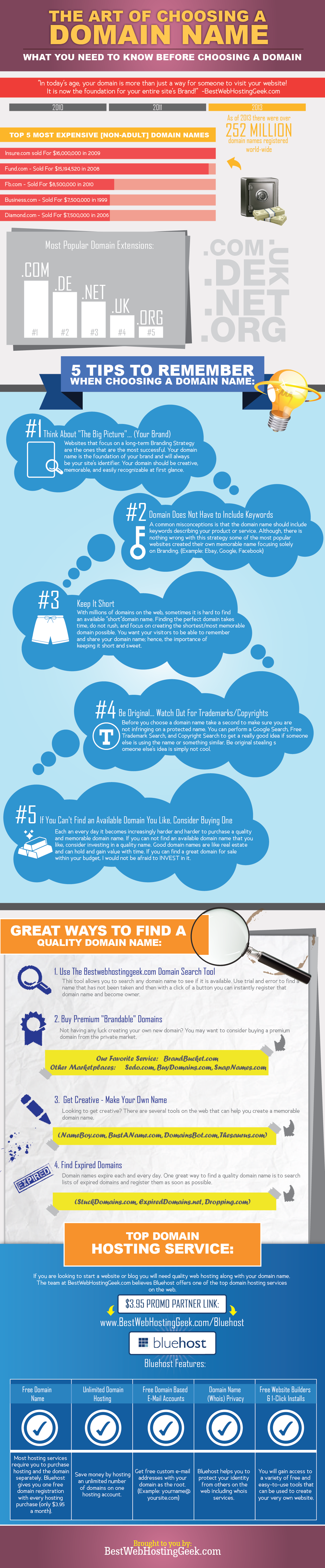 The Art of Choosing a Domain Name (Infographic)