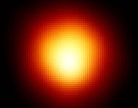 Betelgeuse a massive explosion.