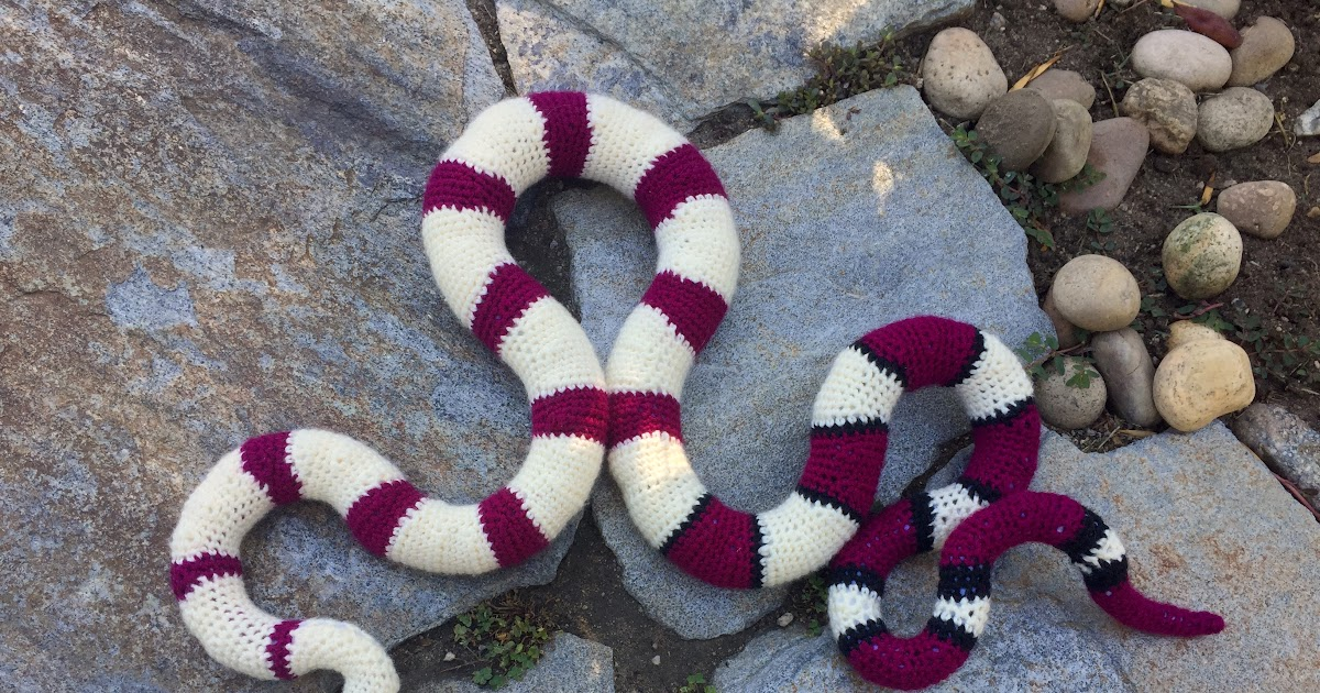 Suvi S Crochet Red Tailed Boa Constrictor
