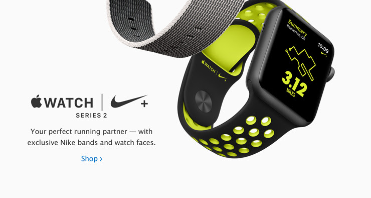 Apple Watch Nike+. Your perfect running partner, with exclusive Nike bands and watch faces.