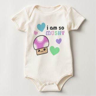 Mushy Puffs So Mushy Kawaii Mushroom Baby shirt