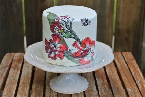 You have to see Hand Painted Cake to Match the Pitcher on
