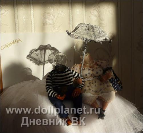 Анна Сажина. Авторские куклы - Полиграф Иваныч и Кроша