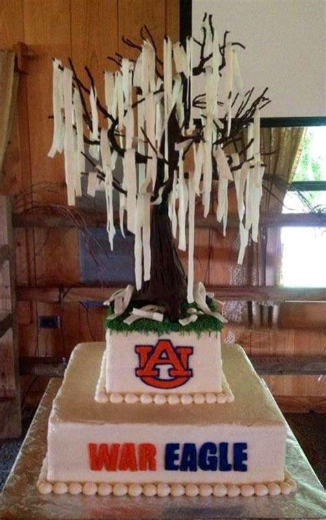 Son's awesome Auburn/Toomer's Corner Oak Groom's cake