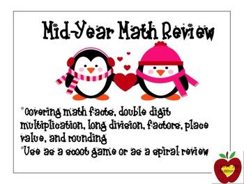 Mid-Year Math Review (Penguin Version)