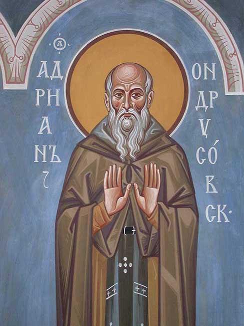 IMG ST. ADRIAN, Venerable,  the Abbot of Ondrusov, Valaam