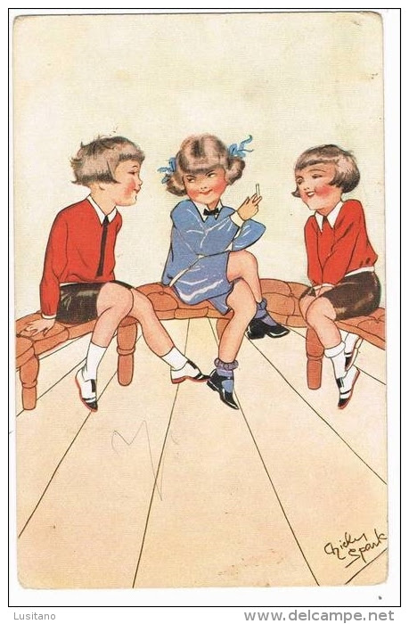 Illustrateur Chicky Spark Tabac Cigarette Sigaretta Tabacco Stamp Timbre 1932 ( 2 Scans ) - Spark, Chicky