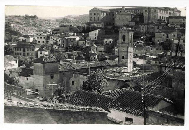 Torre de San Lorenzo hacia 1970. Colección Luis Alba. Ayuntamiento de Toledo