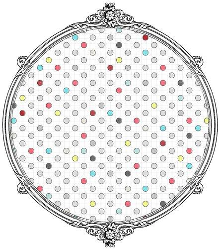 multicolour distressed polka dot paper SAMPLE