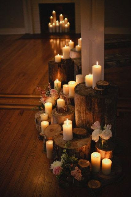 30 Adorable Fireplace Candle Displays For Any Interior ...