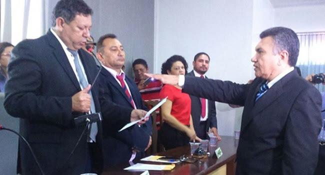 Cerimônia de posse de Ednaldo Alves Lima