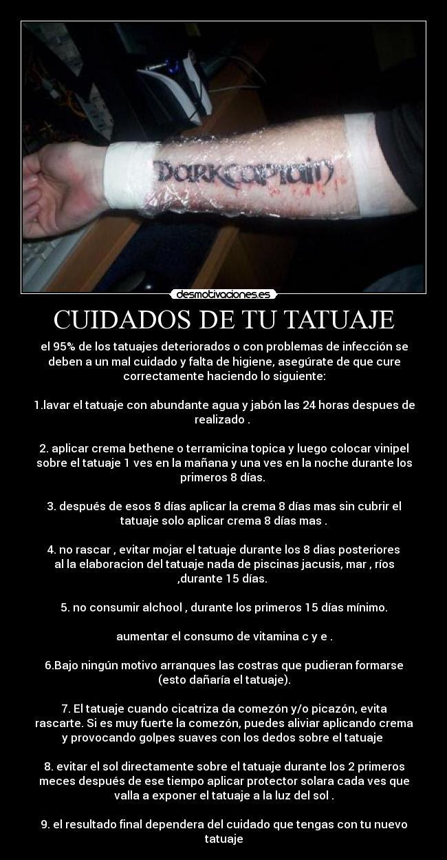 Cuidados De Tu Tatuaje Desmotivaciones
