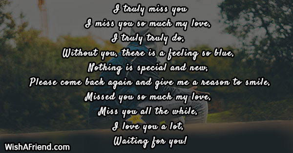 Missing You Poems For Wife