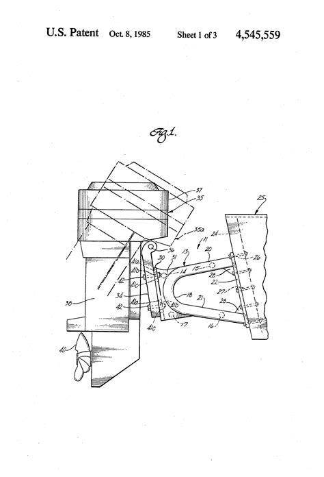 Patent US4545559 - Outboard motor support bracket - Google