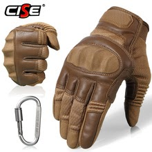 Leather Hard Gloves Protective Gear Racing Biker Riding Motorbike