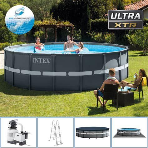 intex swimming pool     cm frame pool set ultra