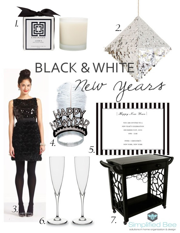 Black And White New Years Eve Party Simplified Bee