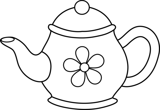 Teapot Clipart Black And White Clipart Panda Free Clipart Images
