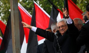 PA President Abbas addresses rally in <span class=