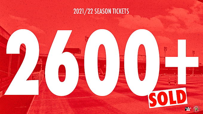 Over 2,600 Season Tickets Sold for Walsall's 2021/22 Campaign