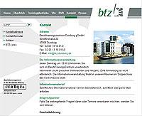 Webdesign-Agentur designbetrieb aus Essen entwickelt Barrierefreier Internetauftritt für das BerufsTrainingsZentrum Duisburg www.btz-duisburg.de