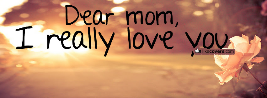 Dearm Mom I Really Love You Facebook Covers