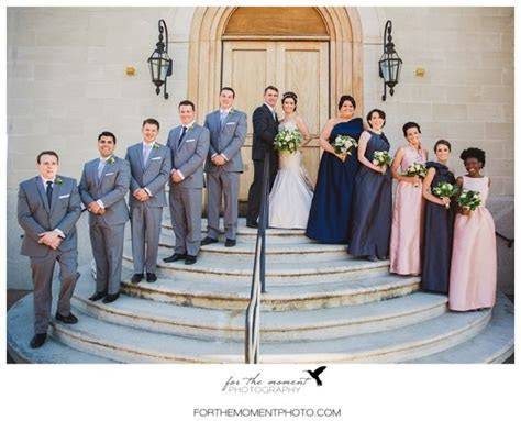 Bridal Party   Mismatched Bridesmaids Dresses   Grey Ivory