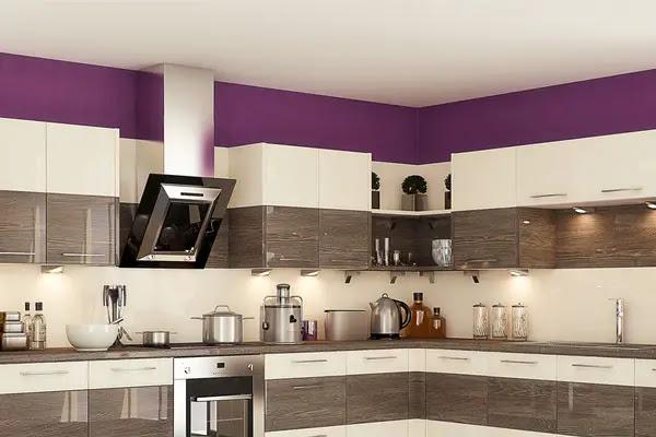 Purple Kitchen Paint - thesouvlakihouse.com