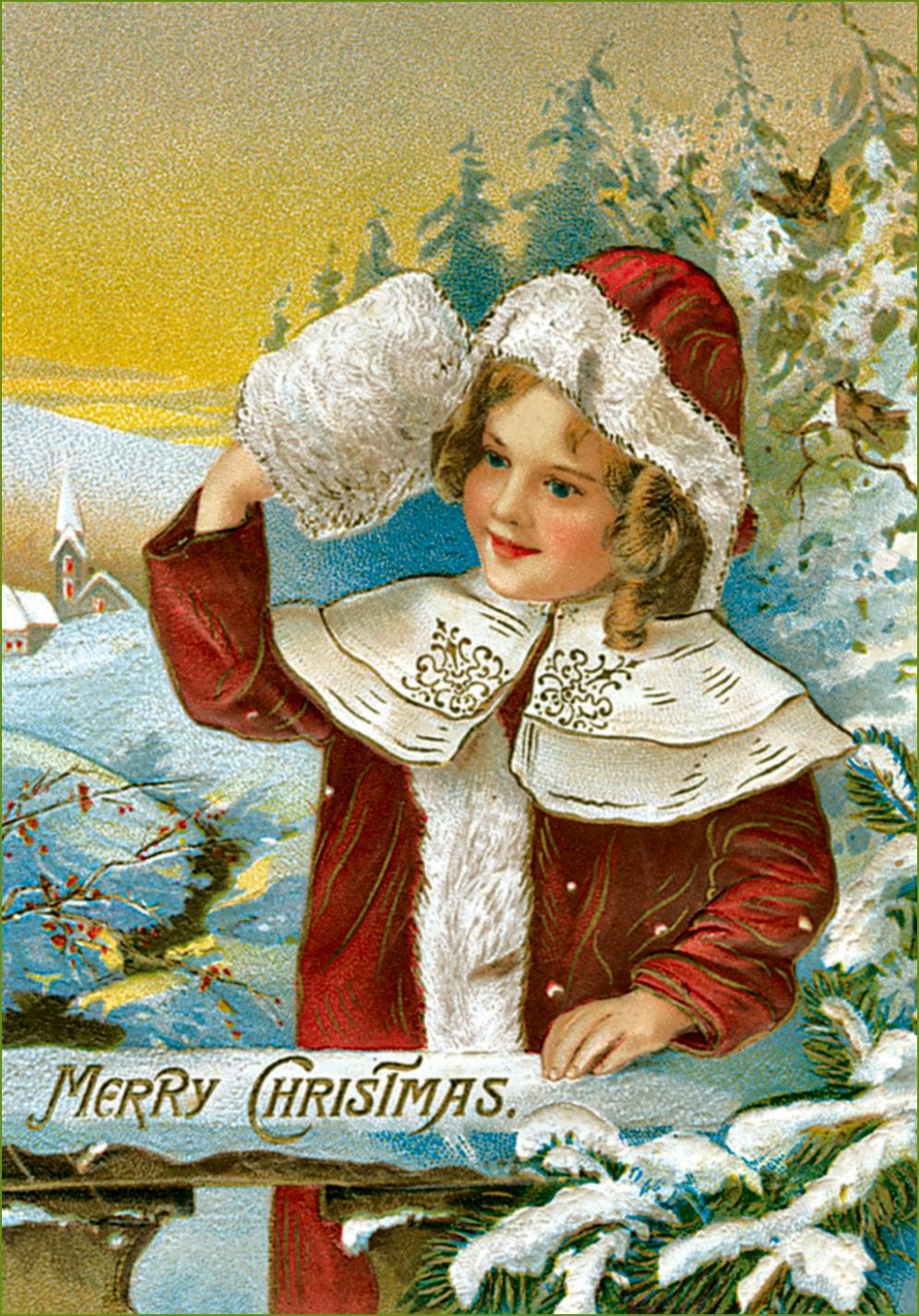 Vintage Ephemera: Victorian Christmas Card