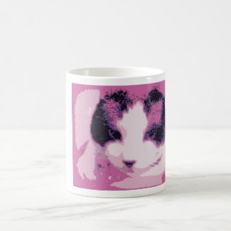 snowshoe gritty art kitty classic white coffee mug