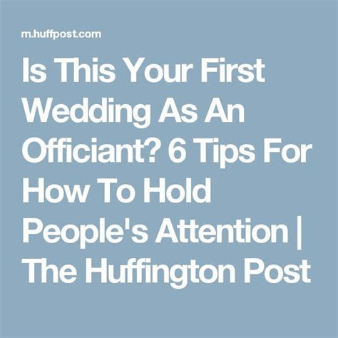 Is This Your First Wedding As An Officiant? 6 Tips For How