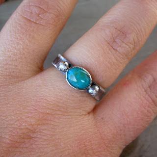 blue chrysocolla ring