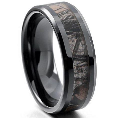 eove jewelry mm camouflage hunting mens black tungsten