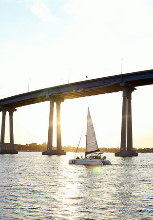 Coronado Bridge, San Diego, Sunset