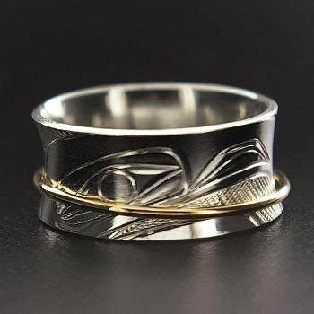 Corrine Hunt, Sterling Silver and 14k Yellow Gold Ring