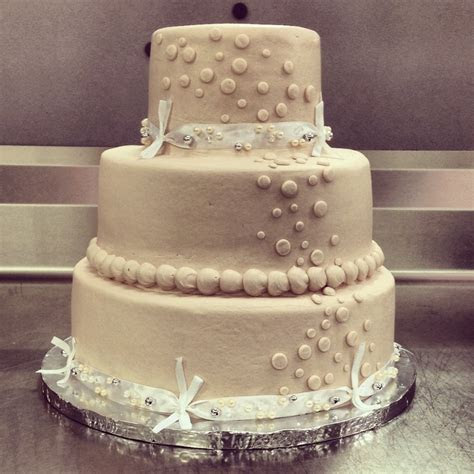 basic walmart wedding cake design  tier champagne