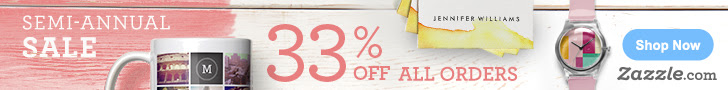 33% off all orders on Zazzle.com